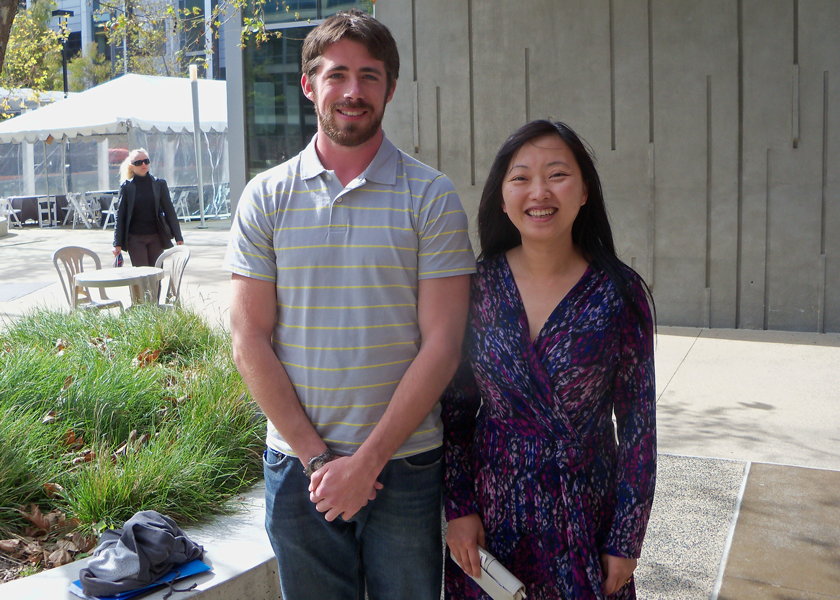 Dr. Meng with Thomas Mcgilvray (UF undergraduate student)