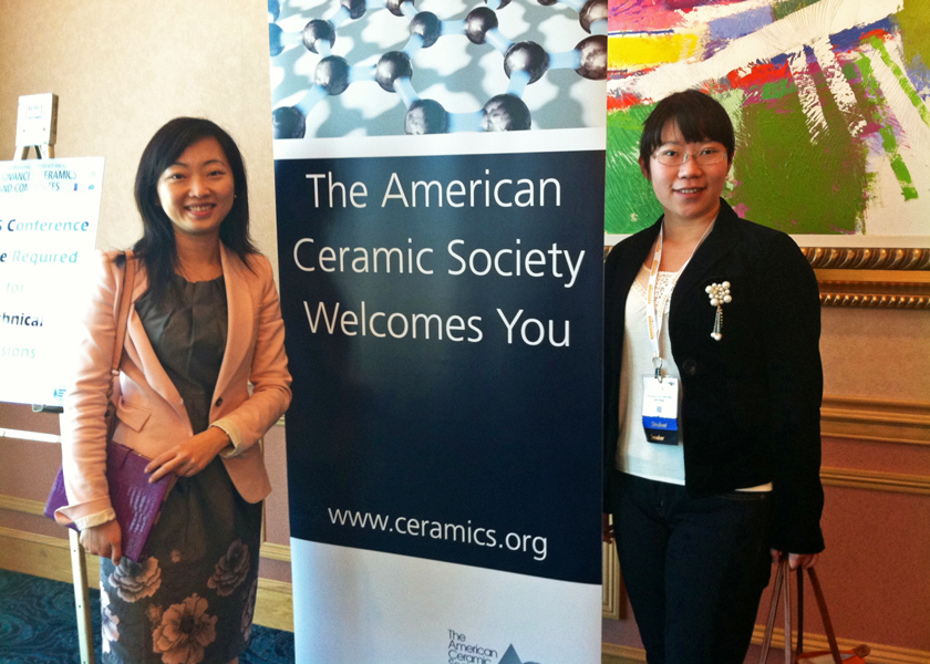 2013 ACerS meeting in Florida, Prof. Meng and Jing Xu