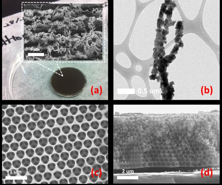 nano-structured electrode fabrication